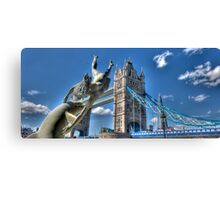 London Tower with a New Look Canvas Print