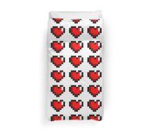 8-Bit Triple Heart Duvet Cover
