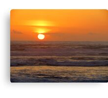 Our 25th Anniversary Sunset.....Florence, Oregon Canvas Print