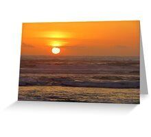 Our 25th Anniversary Sunset.....Florence, Oregon Greeting Card