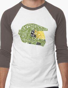Halo text Art Men's Baseball ¾ T-Shirt