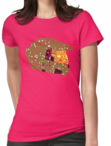 Halo text Art Womens Fitted T-Shirt