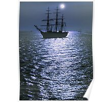 Silvery Night Poster