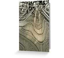 Ice Abstract Greeting Card