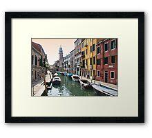 Street scene, Venice Framed Print