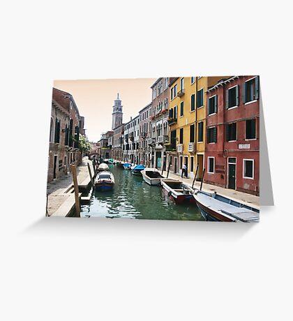 Street scene, Venice Greeting Card