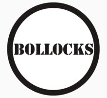 Giant Button: Bollocks by MelancholyChild