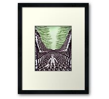 Nightmare surreal pen ink and pencil drawing Framed Print
