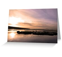 beale purple beach dawn Greeting Card