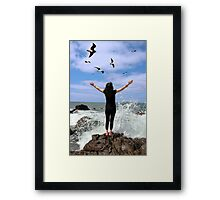 being at one with all of nature  Framed Print