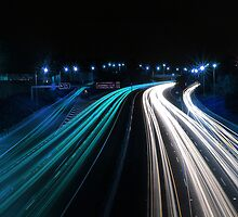 Traffic in Electric Blue by Andrejs Jaudzems