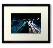 Traffic in Electric Blue Framed Print