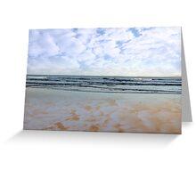 blue sky blue sea gold sand Greeting Card