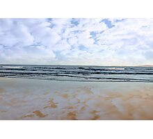 blue sky blue sea gold sand Photographic Print