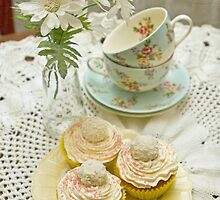 Three Vanilla Cupcakes by Barb Leopold