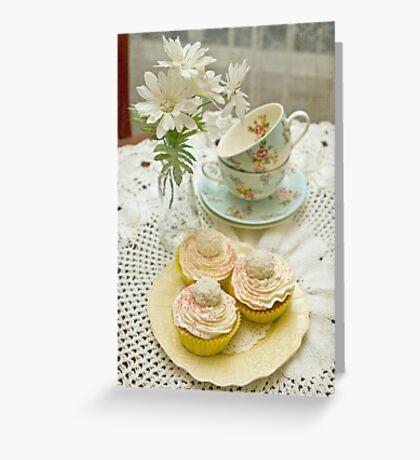 Three Vanilla Cupcakes Greeting Card