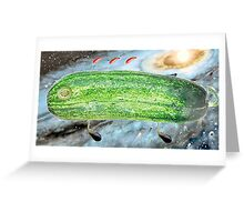 Space Cucumber Greeting Card