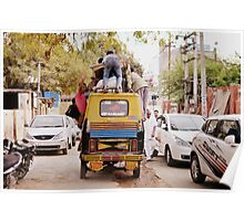Auto Rickshaw Carry Goods and People in India Poster