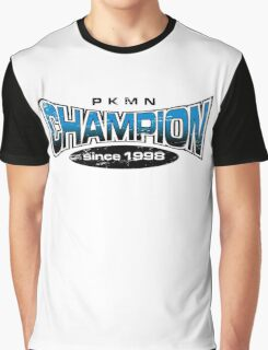 Pokemon Champion_Blue Graphic T-Shirt
