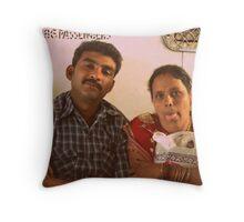 Mumbai Train Passengers Throw Pillow