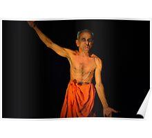 Sign Language at Kathakali Performance in Kochi, India Poster