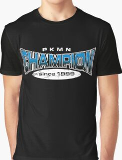Pokemon Champion_Blue_DarkBG Graphic T-Shirt
