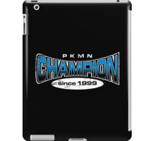Pokemon Champion_Blue_DarkBG iPad Case/Skin