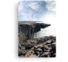 burren cliff edge view Canvas Print