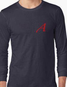Scarlet letter - A for Atheism Long Sleeve T-Shirt