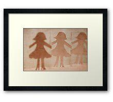 girls on the avenue Framed Print