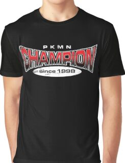 Pokemon Champion_Red_DarkBG Graphic T-Shirt