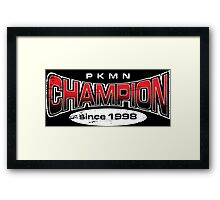 Pokemon Champion_Red_DarkBG Framed Print