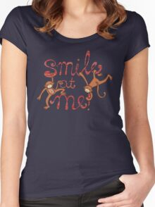 Smile at me! Women's Fitted Scoop T-Shirt