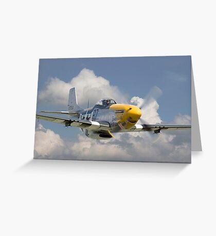 P51D Mustang - Comin' at Ya Greeting Card