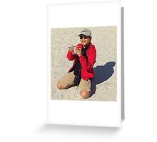 The Dude In Red Greeting Card