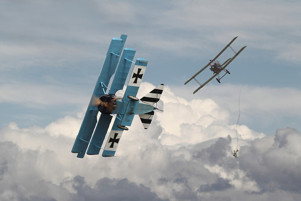 WW1 - SE5 and Triplane - Counterstrike by Pat Speirs