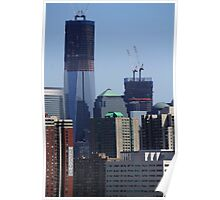Freedom Towers Under Construction Poster