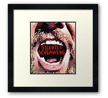 Silently Screaming Framed Print