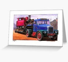 Scammell low loader Greeting Card
