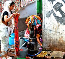 Women Doing Laundry, Calcutta, India by not-home.com - We Travel