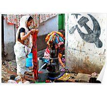 Women Doing Laundry, Calcutta, India Poster