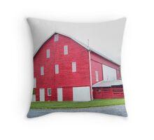 Big Red Barn Throw Pillow