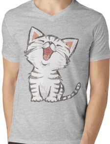 American Shorthair happy Mens V-Neck T-Shirt