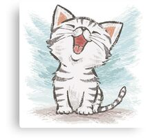 American Shorthair happy Canvas Print