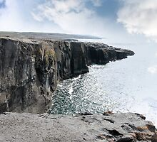 clare cliff edge view by morrbyte