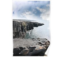 clare cliff edge view Poster
