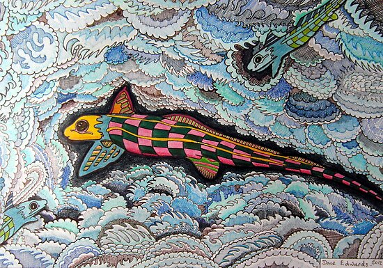 347 - RABBITFISH DESIGN - DAVE EDWARDS - COLOURED PENCILS & FINELINERS - 2012 by BLYTHART