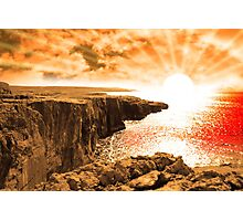 clare cliff edge view sunset Photographic Print