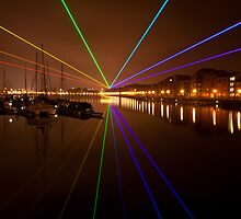 Global Rainbow by Yves Mattern at Preston Docks  by RedMann