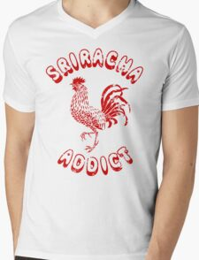 Sriracha Addict Vintage Mens V-Neck T-Shirt